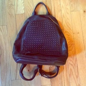 Madison West Bags - Black/gold fashion backpack